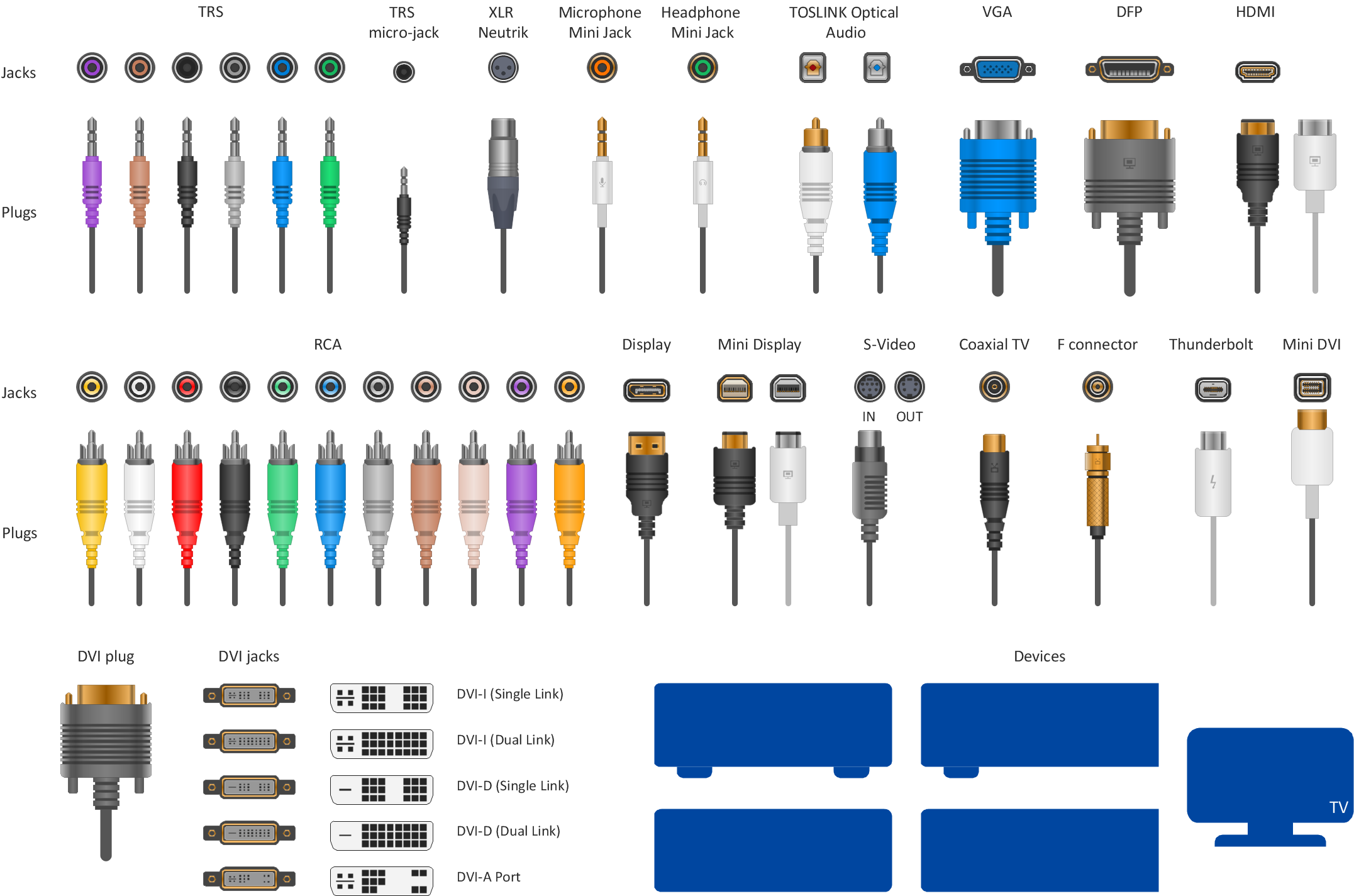 vector-shapes-audio-video-connectors