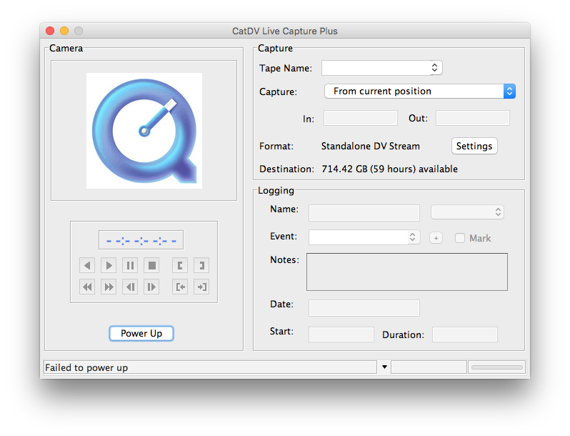 Live Capture Plus and QuickTime for Java